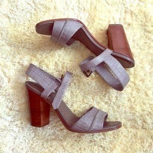 Frye Grey Chunky Block Heel Shoes